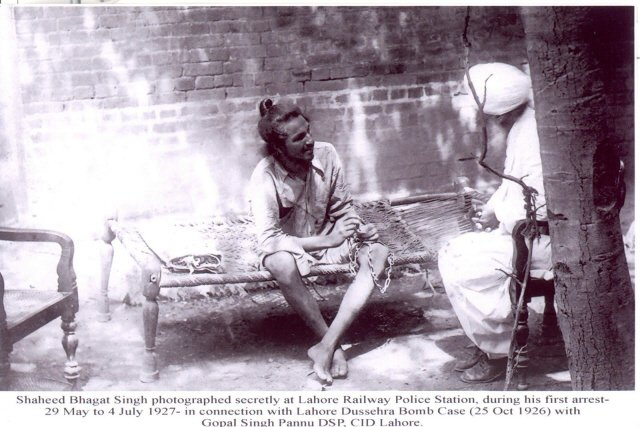 Rare photograph of Martyr Bhagat Singh (Courtsey : Mr. Sita Ram Bansal)