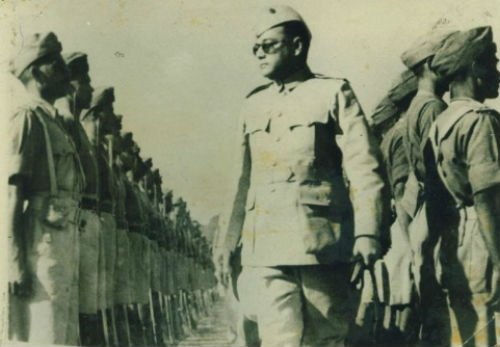 Netaji with Azad Hind Fauj