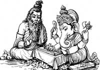 Maharashi Ved Vyas and Ganesh
