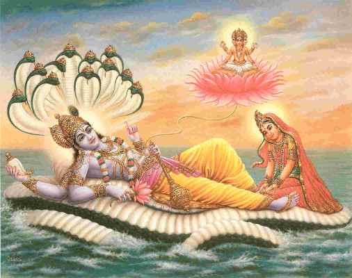 Lord Vishnu with Lakshmi