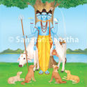 Shraddha ritual and chanting of the name of Lord Dattatreya
