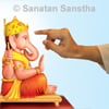 Why do we apply gandha to deity?