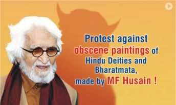 Protest MF Hussain