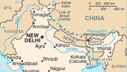Distortion Of The Indian Map By Microsoft Virtual Earth Hindu - India us map