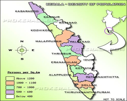 Demographic map of Kerala