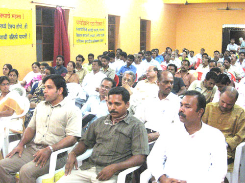 Madgaon citizens present for the meeting