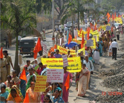 3. Thousands of Hindus participated in the Naamdindi