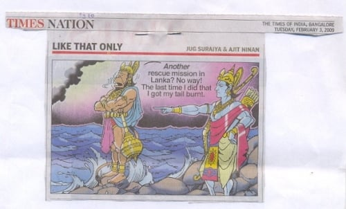 Denigrated Cartoon published in Time of India