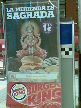 Denigration of Goddess Lakshmi by 'Burger King'