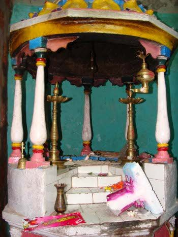 The Idol of Sree Mahalakshmi placed here was damaged