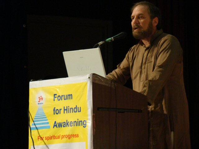 Dr. Richard Benkin addressing in the HInduism Summit