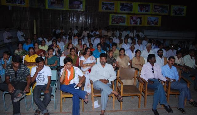 Devout Hindus present for the program