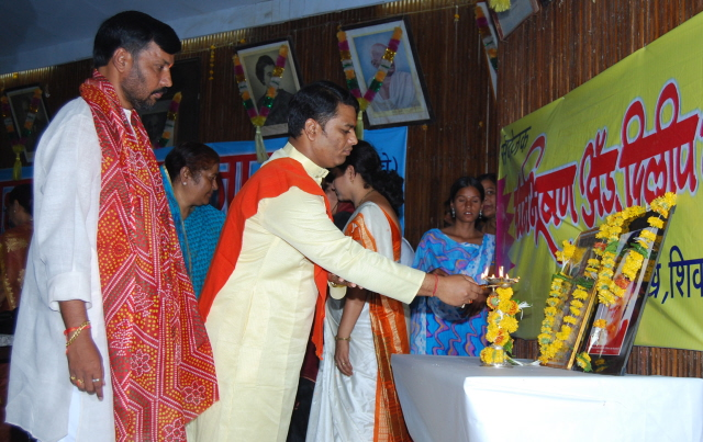 Inauguration of the program by Mr. Ramesh Shinde