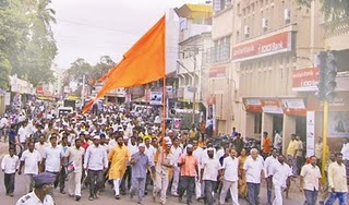 James Laine Issue: 'Shri Shiva-pratishthan' takes out a march in Sangli