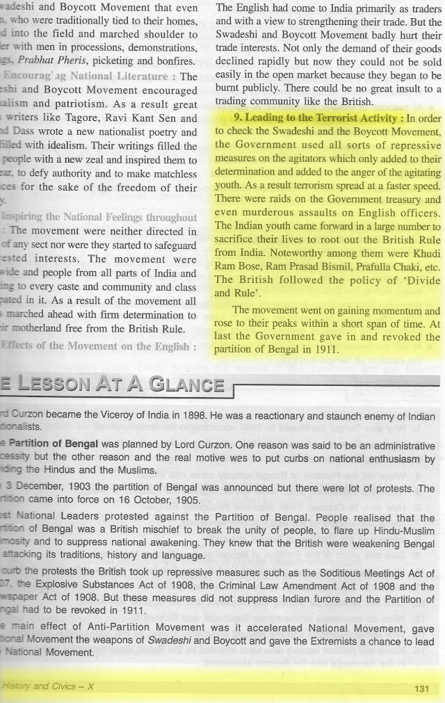 ICSE History and Civics 10th standard textbook - Page No 130