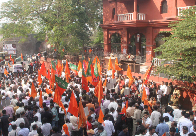 Thousands of Pro-Hindus participated in the agitation - 1