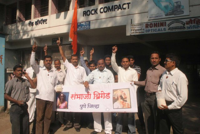 Anti-Hindu Sambhaji Brigade activists were celebrating removal of the statue