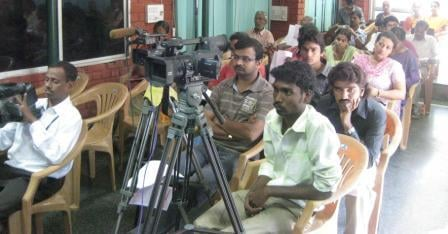 Media personals present for the Press Conference by HJS