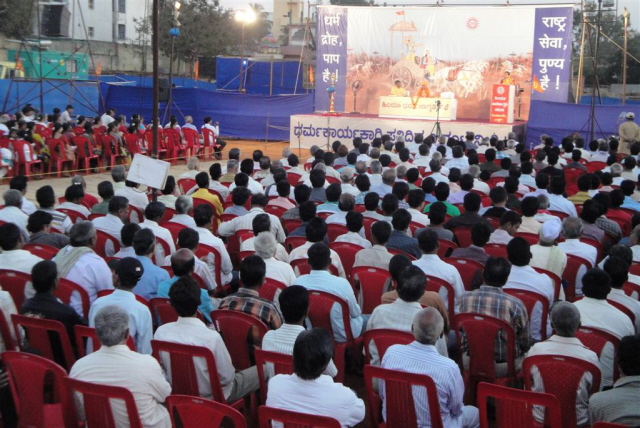 Around 1200 devout Hindus were present for the Hindu Dharmajagruti Sabha