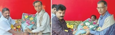 Felicitation of Mr. Chapalgaonkar and Mr. Kulkarni