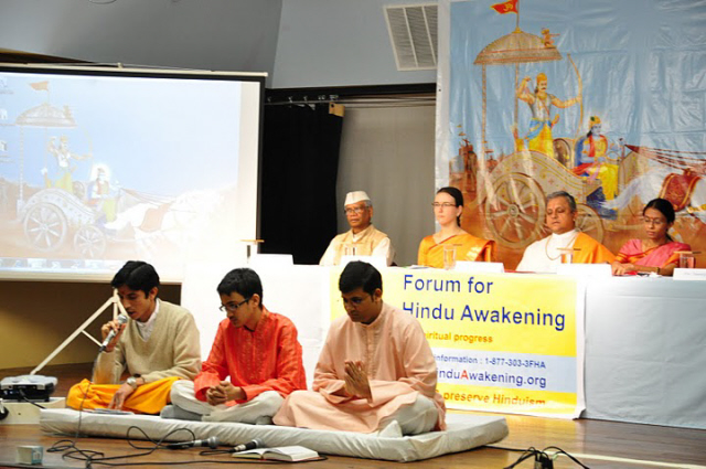 The Hinduism Summit was started with recitation of Vedic mantras