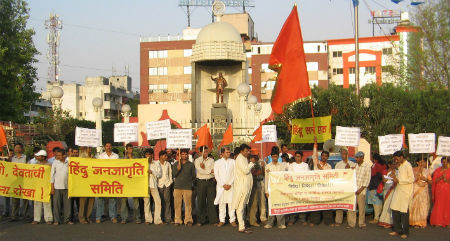 Pimpri: Hindus protest against proposed Anti-Superstitions Act
