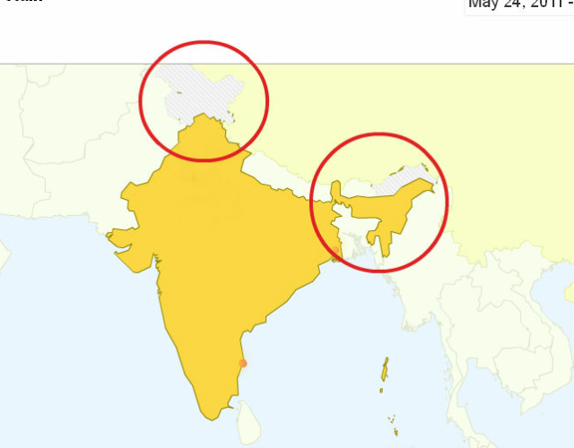 Protest Distortion Of Indian Map By Google Hindu Janajagruti Samiti - India-us-map