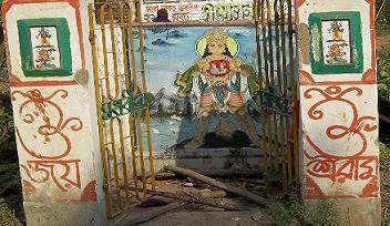 Sri Hanuman temple destroyed by Muslims