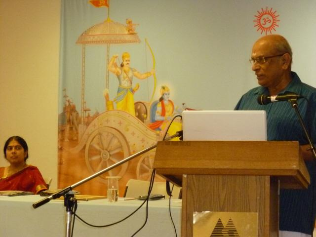 Mr. S Kalyanaraman, a Hindu Activist addressing in the Hinduism Summit