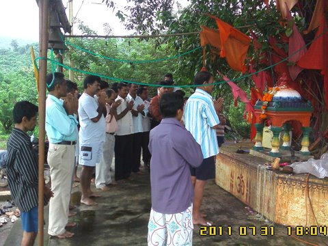 MoI issue in Goa: Prayer offered to Sri Simeshwar Deity at Borim