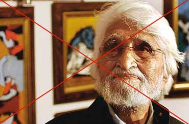 Anti-Hindu painter M F Husain
