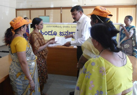 HJS members submitting Memorandum at Hubli