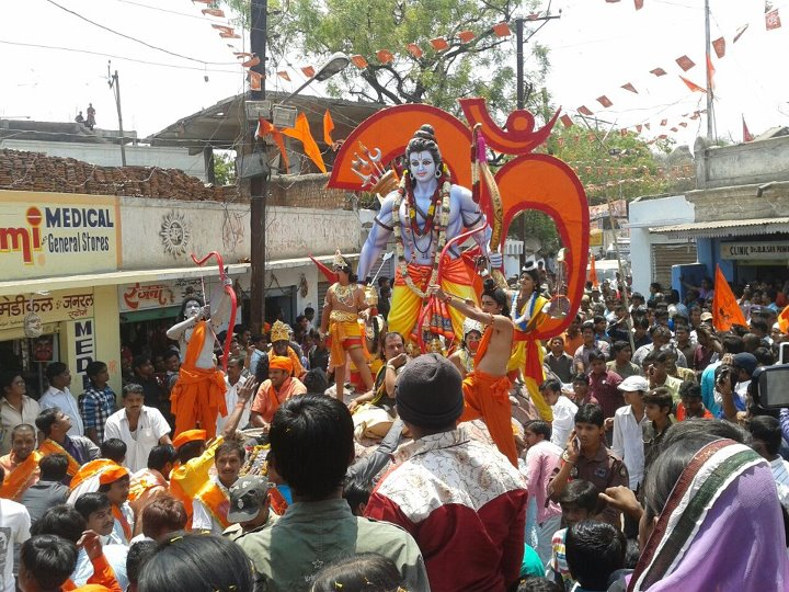 Begininng of the Shriram Navami Shobhayatra