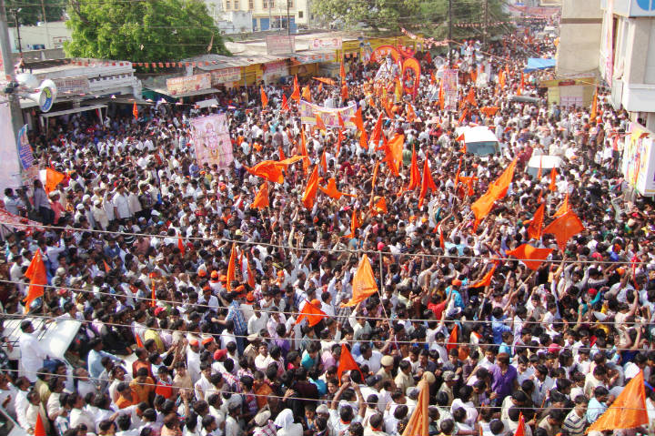 Lakhs of devout Hindus participated in the Shriram Navami Shobhayatra