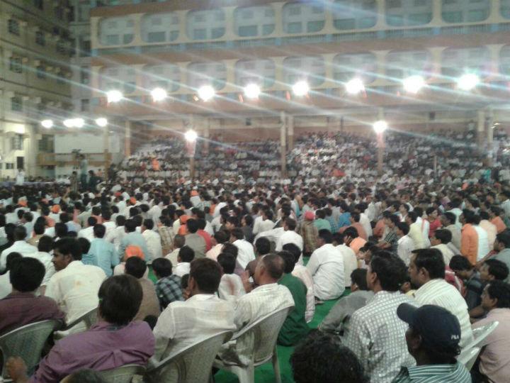 The Shriram Navami Shobhayatra concluded at Hanuman Vyayam Shala, Hanuman Tekdi