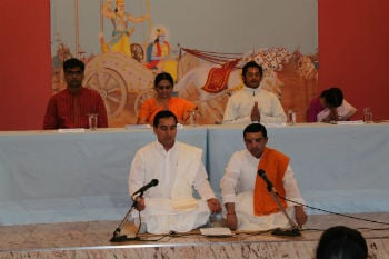 Vedic recitation at Hinduism Summit