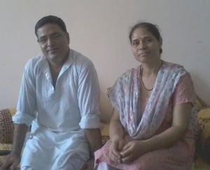 Kashmiri Hindu couple Ajay and Bharati