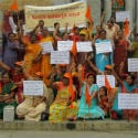 Bangalore : Strong demonstrations by devout Hindus against the ban on HJS website