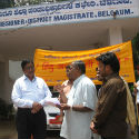 Belgaum : Representation demanding lifting of ban on HJS website submitted