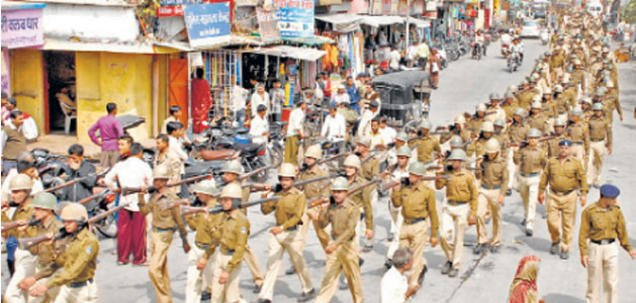 Police force deploys to suppress Hindus