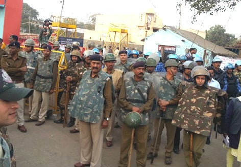 'Committed' police force present at the Bhojshala