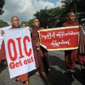 Buddhist monks rally against visit by Muslim body