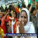 Pakistani Hindu Refugees living in India staged protest demonstration at UN Office, New Delhi