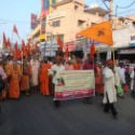 Procession taken out in the view of huge protest against Islamic Univ at Tirupati