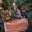 Pakistani Hindus hold demonstrations at Jantar Mantar for various demands !