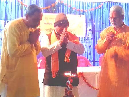 From left : Pujya (Dr.) Pingale, Pandit Balkrushna Joshi, Shri. Vinay Panavalkar