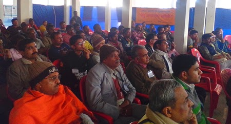 Hindu leaders and activists present for the regional Hindu Adhiveshan