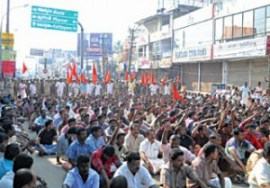 Hindus protesting against slaughter of pregnant cow