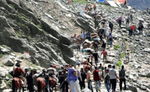 3 pilgrims die en route Amarnath shrine, death toll reaches 25