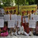 Jantar-Mantar (Delhi) : Protests against the dishonour of Indian flag at Glasgow through Rashtriya Hindu Andolan